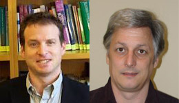 Professor Mark Schwartz on the left --- Professor Darryl Reed on the right