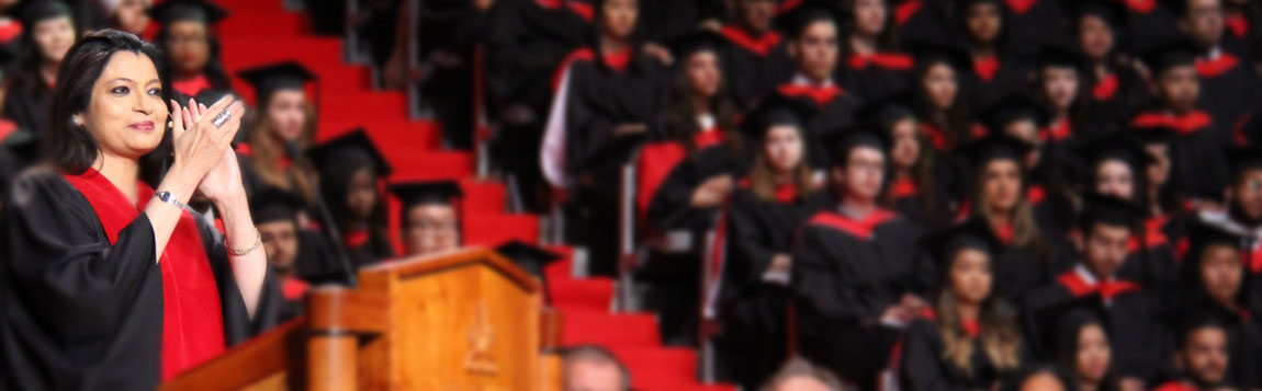 Dean Ananya Mukherjee-Reed Applauds Graduating Students at Convocation in June 2016