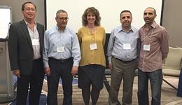 From left: Adriano Solis, Samire Trabelsi, Joanne Jones, Mohamed Ayadi and Nabil Tahani