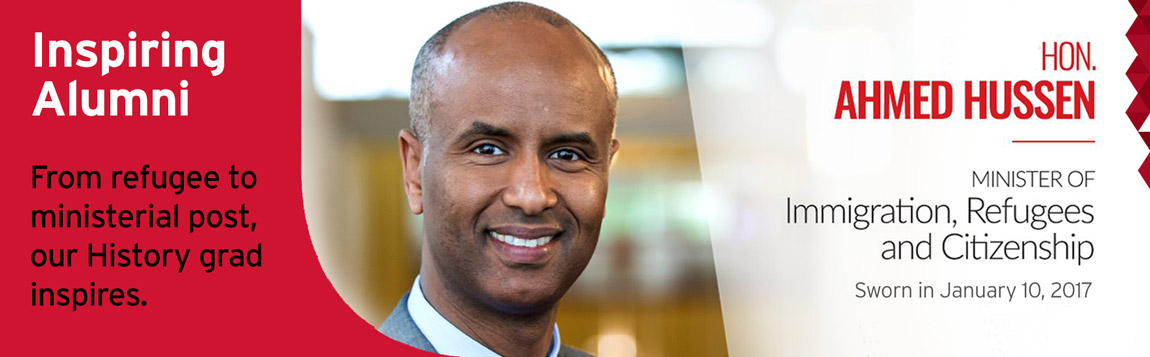 photo-illustration of new Minister of Immigration, Hon. Ahmed Hussen