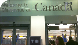 Canada Immigration Welcome to Canada bilingual sign photo