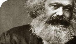 Karl Marx photo illustration