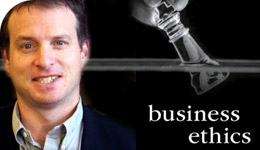 Prof Mark Schwartz Business Ethics book photo-illustration