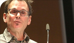 Prof Robert Latham at microphone 2017-06-12 | photo