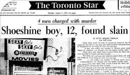 Emanuel Jaques Community Conversation on impact | Toronto Star front-page from 1977 | 2017-10-04