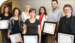 Group photo of award recipients with Dean | 2017-10-31