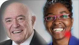 Honorary Doctorate recipients Rudolph Bratty and Angela Robertson photo composite | 2017-10-17