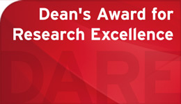"""text graphic """"Dean's Award for Research Excellence"""" DARE"""