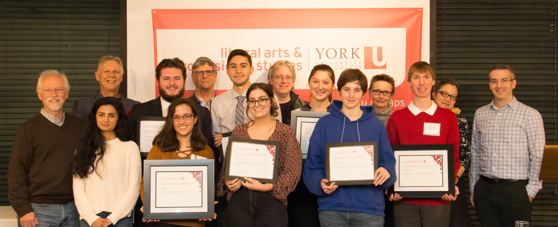 Winners and presenters at 2017 Essay Writing Awards event photo | 2017-12-19