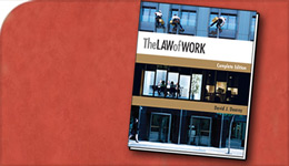 The Law of Work, cover of book by Prof David Doorey | 2017-08-03