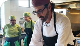 Italian Foodways International Conference photo of chef preparing food | 2017-11-06
