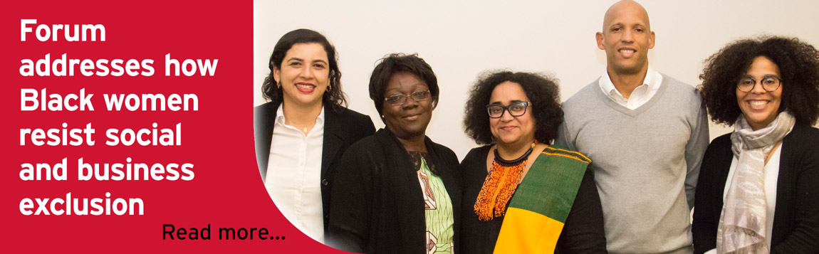 BUSO event, Caroline Hossein, Black women resist social and business exclusion in Canada and abroad