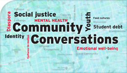 Community Conversations word-cloud eBook cover illustration | 2018-02-20