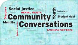 Community Conversations word-cloud eBook cover illustration | 2018-02-20