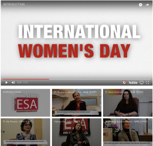 Screen shot of Economics Student's Association video miniseries website on Women in Economics | 2018-03-08