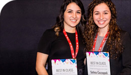 Students Tiana Noce and Selina Cozzupoli, 3rd-place winners of Canada's Next Top Ad Exec | photo | 2018-04-04