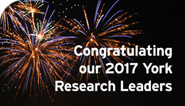Congratulations to our 2017 York Research Leaders | illustration | 2018-05-09