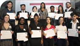 Photo of student recipients of leadership and engagement awards at SCOLAP-LAPS event | 2018-05-14