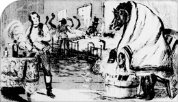 Historical illustration of Horse Epizootic from 1872 | 2018-06-04