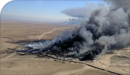 Photo of oil-field fire in Mosul post ISIL retreat | Wikimedia CC | 2018-06-07