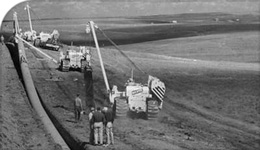 Archival photo of pipeline installation in Canada | 2018-05-30
