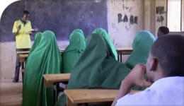 Photo of classroom in Dadaab refugee camp in Kenya | 2018-07