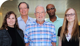 "Photo of researchers including Paul Anisef, lead of the ""Class of '73"" project"
