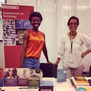 Photo of Sociology Professor Bawa and Professor Hadj-Moussa | 2018-07-19
