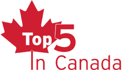 Top 5 in Canada info-graphic
