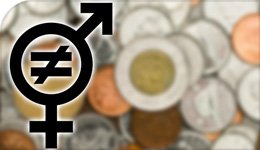 Illustration of gender inequality using male and female symbols | 2018-09-07