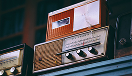 Photo of a vintage radio