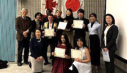 LA&PS Japanese Studies students at speech contest